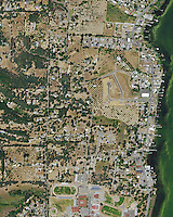 aerial photograph Lakeport, Lake County, California, 2014