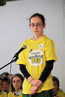 NO FEE PICTURES.8/3/12 Emmiline Kennedy, Loreto PS, Rathfarnham, taking part in the Dublin County final, part of the overall Eason 2012 Spelling Bee, held at St Olaf's NS, Dundrum. .For further details visit www.easons.com/spellingbee and stay tuned to RTE 2fm. Picture:Arthur Carron/Collins