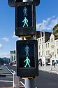 Hastings, UK. 29.09.2012.  Pelican crossing signals indicating a green man. Photo credit: Jane Hobson.