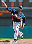 12 March 2009: Atlanta Braves' pitcher Jerome Gamble on the mound during a Spring Training game against the Washington Nationals at Disney's Wide World of Sports in Orlando, Florida. The Braves defeated the Nationals 6-2 in the Grapefruit League matchup. Mandatory Photo Credit: Ed Wolfstein Photo