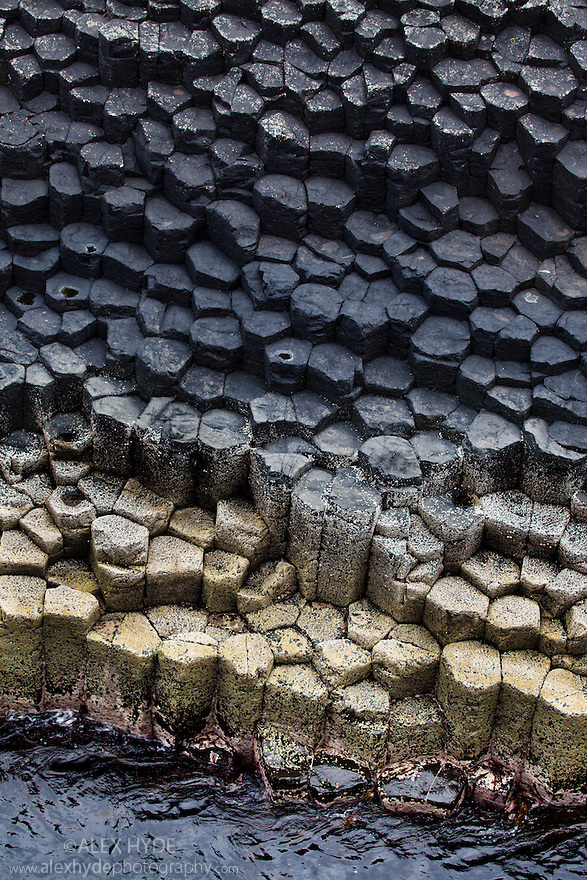 Hexagonal basalt columns, Isle of Staffa, Inner Hebrides, Scotland, UK.