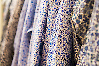 Detail of Liberty print shirt in the Uniqlo store on Fifth Avenue in New York on Thursday, March 24, 2016 showing the collaboration between Uniqlo and Liberty London, a company known mostly for its distinctive floral patterned fashions. (© Richard B. Levine)