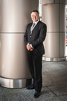 Mr Paul Brock, Kiwibank Ltd chief executive officer, photographed on The Terrace in Wellington.