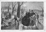Vintage Illustration form Harper's Weekly 1862 &quot;The Skating Season&quot; by Winslow Homer