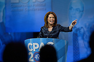 March 14, 2013  (National Harbor, Maryland)  Rep. Michele Bachmann, R-MN, addresses attendees of the 2013 Conservative Political Action Conference (CPAC) in National Harbor, MD.  (Photo by Don Baxter/Media Images International)