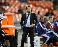 D.C. United head Coach Ben Olsen. D.C. United defeated Chivas USA 1-0 at RFK Stadium, Sunday September 23, 2012.