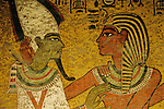 Painting on tomb North Wall; Osiris; KV 62, Tutankhamun and the Golden Age of the Pharaohs, Page 214