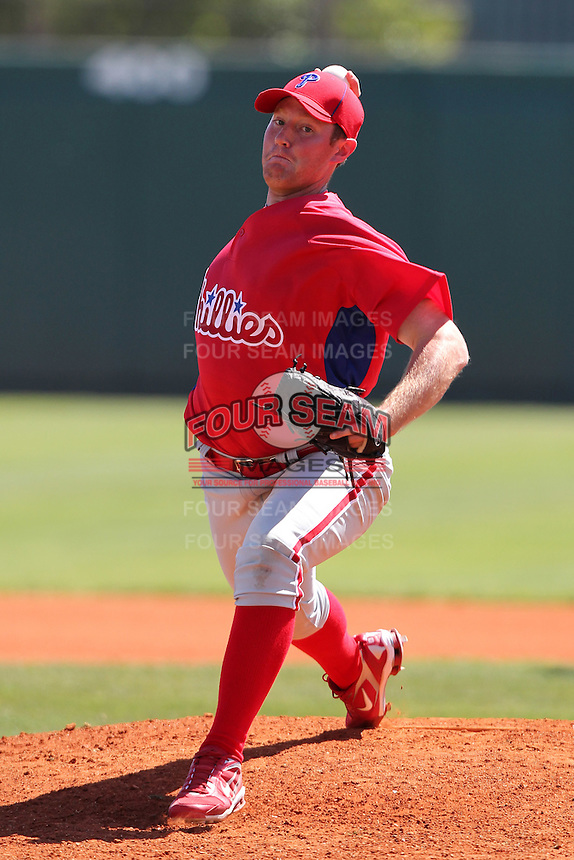 Philadelphia Phillies BJ Rosenberg #58 during an exhibition game vs the Netherlands National Team  at Al Lang Field in St. Petersburg, Florida;  March 13, 2011.  Photo By Mike Janes/Four Seam Images