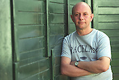 Nick Hornby, author, at the Edinburgh International Book Festival, in Edinburgh, Scotland, in August 2001..Rex 341568 JSU.