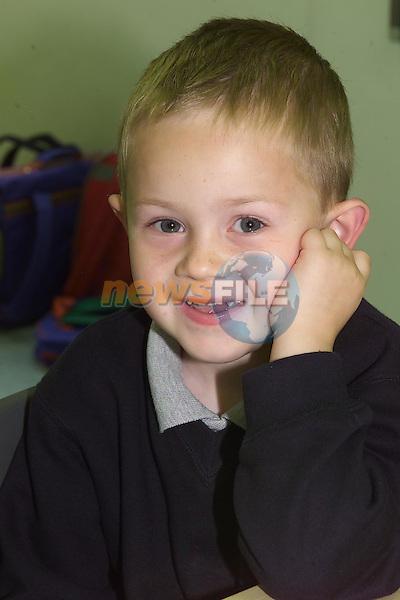 <b>James Kierans</b>.First day at School Le Cheile NS..Camera: DCS620X. - James-Kierans