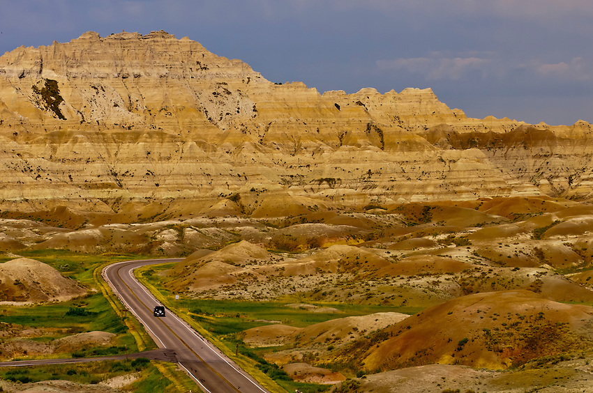 View from Yellow Mounds Overlook, Badlands National Park, South Dakota USA