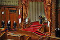 January 24, 2012, Tokyo, Japan - Emperor Akihito formally declares the opening of the ordinary session of Japan's parliament in its upper chamber in Tokyo on Tuesday, January 24, 2012. The 150-day regular session kicked off with Prime Minister Yoshihiko Noda delivering his policy speech. (Photo by Natsuki Sakai/AFLO) AYF -mis-