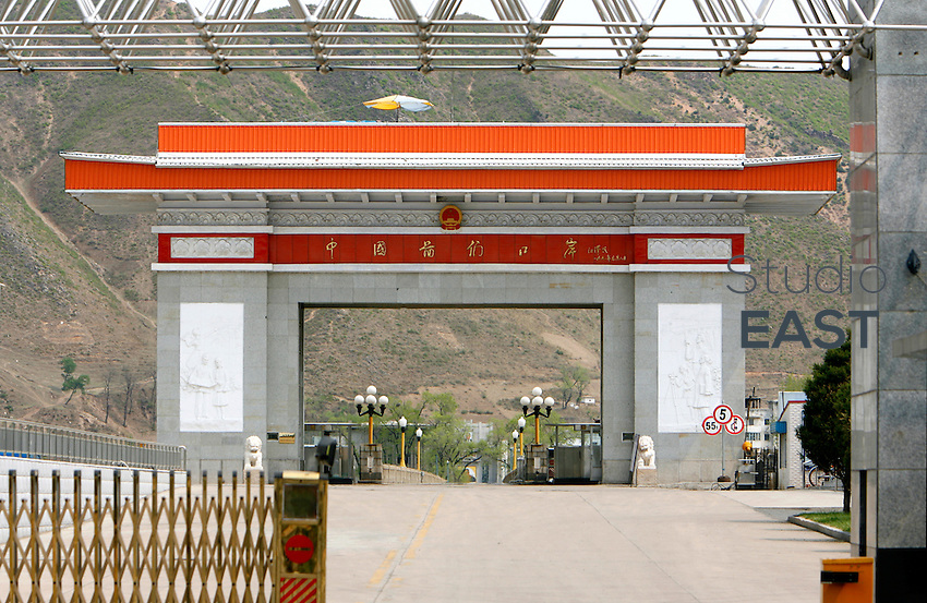 The Chinese border post on Chinese-North Korean border in Tumen, Jilin province, China, on May 8, 2009. Chinese army and police track down all North Korean refugees who cross the border. After they catch them, they just hand them back to North Korea. This a violation of the UN Convention on Refugees. North Korea punishes defectors with death penalty or labor camps. Photo by Lucas Schifres/Pictobank