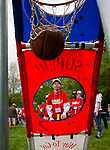 WOLCOTT, CT - 20 MAY 2017 - 052017JW02.jpg -- Athlete Mark Bannon sinks a basket during the 2017 Special Olympics in Wolcott at the Woodtick Recreation Area Saturday morning.   Jonathan Wilcox Republican-American