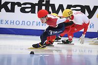 "SHORT TRACK: MOSCOW: Speed Skating Centre ""Krylatskoe"", 15-03-2015, ISU World Short Track Speed Skating Championships 2015, Quarterfinals 1000m Men, Semen Elistratov (#152   RUS), ©photo Martin de Jong"