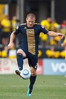24 OCTOBER 2010:  Philadelphia Union defender Jordan Harvey (2) during MLS soccer game against the Columbus Crew at Crew Stadium in Columbus, Ohio on August 28, 2010.