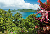 View from the north shore of St John.Virgin Islands National Park