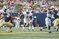 Annapolis, MD - September 9, 2016: Connecticut Huskies running back Ron Johnson (3) runs the ball during game between UConn and Navy at  Navy-Marine Corps Memorial Stadium in Annapolis, MD. September 9, 2016.  (Photo by Elliott Brown/Media Images International)