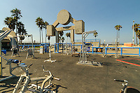Muscle Beach Venice, located two blocks north of Venice Boulevard on Ocean Front Walk in Venice Beach, California