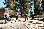 Backpackers near Glacier Point, Yosemite National Park, California, USA.  Photo copyright Lee Foster.  Photo # california121341