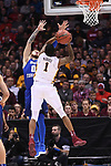 MILWAUKEE, WI - MARCH 16:  Minnesota Gophers guard Dupree McBrayer (1) shoots over Middle Tennessee Blue Raiders guard Tyrik Dixon (0) during the 2017 NCAA Men's Basketball Tournament held at BMO Harris Bradley Center on March 16, 2017 in Milwaukee, Wisconsin. (Photo by Jamie Schwaberow/NCAA Photos via Getty Images)