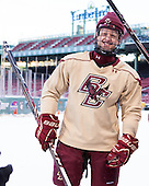 Michael Matheson (BC - 5) -  - The participating teams in Hockey East's first doubleheader during Frozen Fenway practiced on January 3, 2014 at Fenway Park in Boston, Massachusetts.