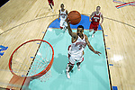 4-1-02: Tournament MVP Juan Dixon goes up for a lay up during the Division I Men's Basketball Championships held at the Georgia Dome in Atlanta, GA. The University of Maryland defeated the Indiana Hoosiers 64-52 for the championship title. .Photo: Rich Clarkson/NCAA Photos