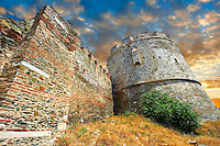 Byzantine Walls of Thessaloniki, Greece. A UNESCO World Heritage Site
