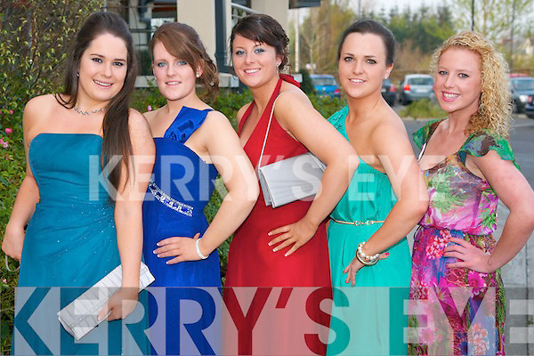 Pictured at the Nurses Ball in the Carlton Hotel, Tralee on Thursday evening, from left: Deirdre OKeeffe, Siobhan Diggin, Elaine Connolly, Eimear Ryan and Amy OConnor..