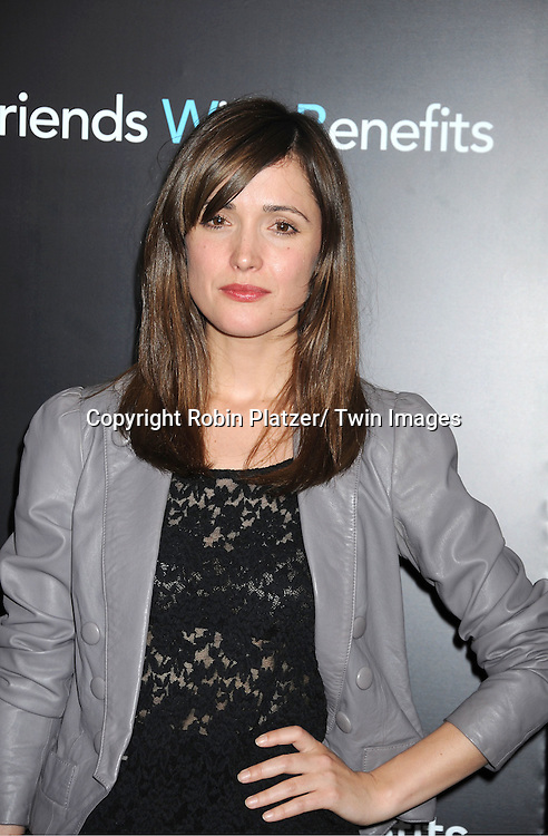 "Rose Byrne attending the New York Premiere of ""Freinds With Benefits"" on July 18, 2011 at The Ziegfeld Theatre in New York City. The movie stars Justin Timberlake, Mila Kunis, Emma Stone, Patricia Clarkson, Jenna Elfman and Bryan Greenberg."