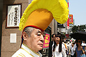 July 2, 2010 - Tokyo, Japan - Candidate for the July 11 Upper House elections Yoshiro Nakamatsu is pictured in Ginza district, Japan, Tokyo on July 2, 2010. Also known as Dr. NakaMats, the Japanese inventor claims to hold the world record for number of inventions with over 3,200, including the floppy disk, the CD, the DVD, the digital watch, Cinemascope, and the taxicab meter.