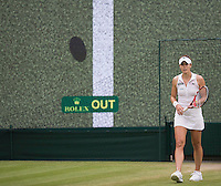 ALIZE CORNET (FRA)<br /> <br /> The Championships Wimbledon 2014 - The All England Lawn Tennis Club -  London - UK -  ATP - ITF - WTA-2014  - Grand Slam - Great Britain -  30th June 2014. <br /> <br /> &copy; AMN IMAGES