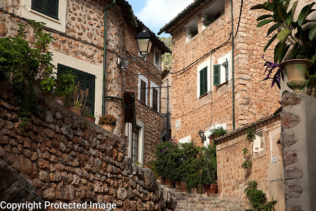 Traditional Architecture in Fornalutx, Majorca, Spain