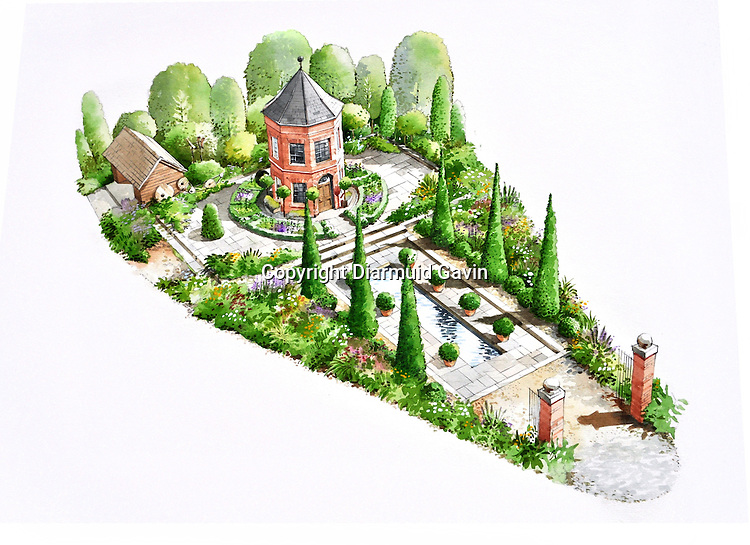 The Harrods Eccentric British Garden by designer Diarmuid Gavin