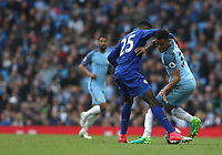 Manchester City's Gabriel Jesus and Leicester City's Wilfred Ndidi<br /> <br /> Photographer Stephen White/CameraSport<br /> <br /> The Premier League - Manchester City v Leicester City - Saturday 13th May 2017 - Etihad Stadium - Manchester<br /> <br /> World Copyright &copy; 2017 CameraSport. All rights reserved. 43 Linden Ave. Countesthorpe. Leicester. England. LE8 5PG - Tel: +44 (0) 116 277 4147 - admin@camerasport.com - www.camerasport.com
