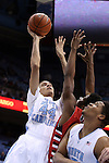 07 November 2014: North Carolina's Justin Jackson (44). The University of North Carolina Tar Heels played the Belmont Abbey College Crusaders in an NCAA Division I Men's basketball exhibition game at the Dean E. Smith Center in Chapel Hill, North Carolina. UNC won the game 112-34.