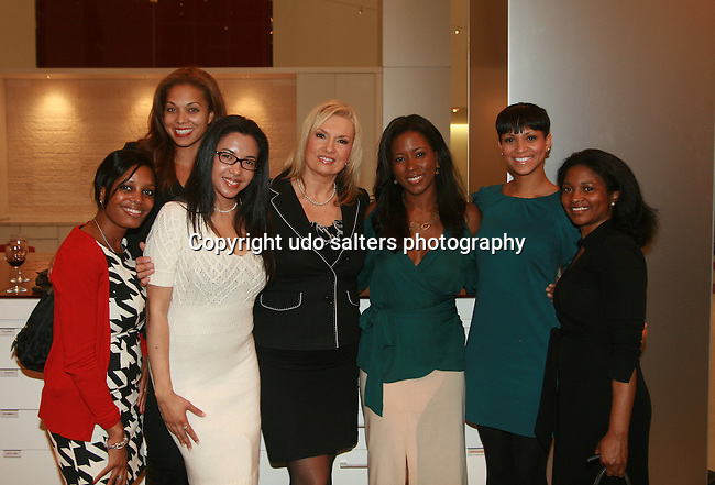 Jaccara, Julie Henderson, Erica Lee-Benedetto, Lisa Evers, Tinika M. Brown, Esq., Jana Taylor and Keisha Oxford attend An Intimate Cocktail Party Fundrasier for The Brotherhood/Sister Sol Hosted by Swig Equities Swig and Fox News Reporter and Hot 97 Radio Talk Show Host Lisa Evers in Association with Wilhemina Models at Haworth, New York 10/29/10
