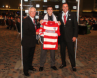 Bobby Warshaw with FC Dallas staff at the 2011 MLS Superdraft, in Baltimore, Maryland on January 13, 2010.