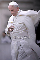 Pope Francis during his weekly general audience in St. Peter square at the Vatican, Wednesday. September 10, 2014.