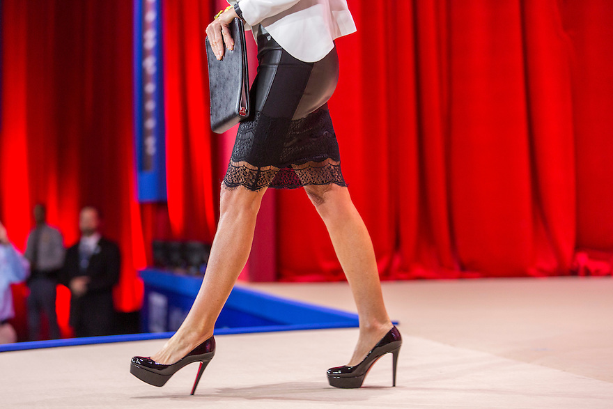 Former Governor Sarah Palin arrives to speak at the 2015 Conservative Political Action Conference (CPAC) outside Washington, DC