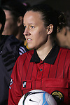 27 April 2008: Referee Margaret Domka (USA). The United States Women's National Team defeated the Australia Women's National Team 3-2 at WakeMed Stadium in Cary, NC in a women's international friendly soccer match following a brief delay for lightning.