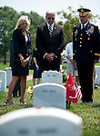 May 31, 2010 - Washington, District of Columbia, U.S., - Vice President Joe Biden and his wife Jill, visit Arlington National Cemetery on Memorial Day.(Credit Image: © Pete Marovich/ZUMA Press)