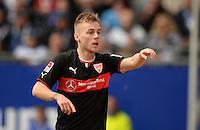 FUSSBALL   1. BUNDESLIGA   SAISON 2013/2014   9. SPIELTAG Hamburger SV - VfB Stuttgart                               20.10.2013 Alexandru Maxim (VfB Stuttgart) bejubelt seinen Treffer zum 0:1