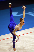 Sep 28, 2000; SYDNEY, AUSTRALIA:<br /> TAMARA YEROFEEVA of Ukraine performs with rope during rhythmic gymnastics qualifying at 2000 Summer Olympics.