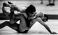 Pix: Michael Steele/SWpix.com. Greco Roman Wrestling. Manchester 1987...COPYWRIGHT PICTURE>>SIMON WILKINSON>>01943 436649>>..Greco Roman wrestling, Manchester 1987