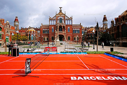 St. Pau Hospital,<br /> APRIL 20, 2015 - Tennis : The ATP 500 World Tour Barcelona Open Banco Sabadell tennis tournament presentation event at St. Pau Hospital in Barcelona, Spain, (Photo by D.Nakashima/AFLO)