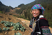 Black Zao hill tribe woman, Sapa, Northern Vietnam