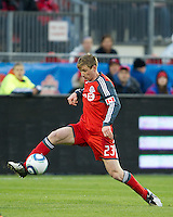16 April 2011: Toronto FC midfielder Jacob Peterson #23 in action during an MLS game between D.C. United and the Toronto FC at BMO Field in Toronto, Ontario Canada..D.C. United won 3-0.