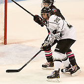 Colleen Murphy (NU - 10), Beth Hanrahan (PC - 28) - The Northeastern University Huskies defeated the visiting Providence College Friars 8-7 on Sunday, January 20, 2013, at Matthews Arena in Boston, Massachusetts.
