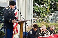 US Army Private First Class  Nolan leads a prayer at the Santa Monica Civic Center during the 23rd annual observance of the National Day of Prayer on on Thursday, May 2, 2013. The National Day of Prayer  is an annual day of observance held on the first Thursday of May, designated by the United States Congress, when people are asked &quot;to turn to God in prayer and meditation&quot;. Each year, the president signs a proclamation, encouraging all Americans to pray on this day. The modern law formalizing its annual observance was enacted in 1952, although it has historical origins to a mandate by George Washington, the first president of the United States